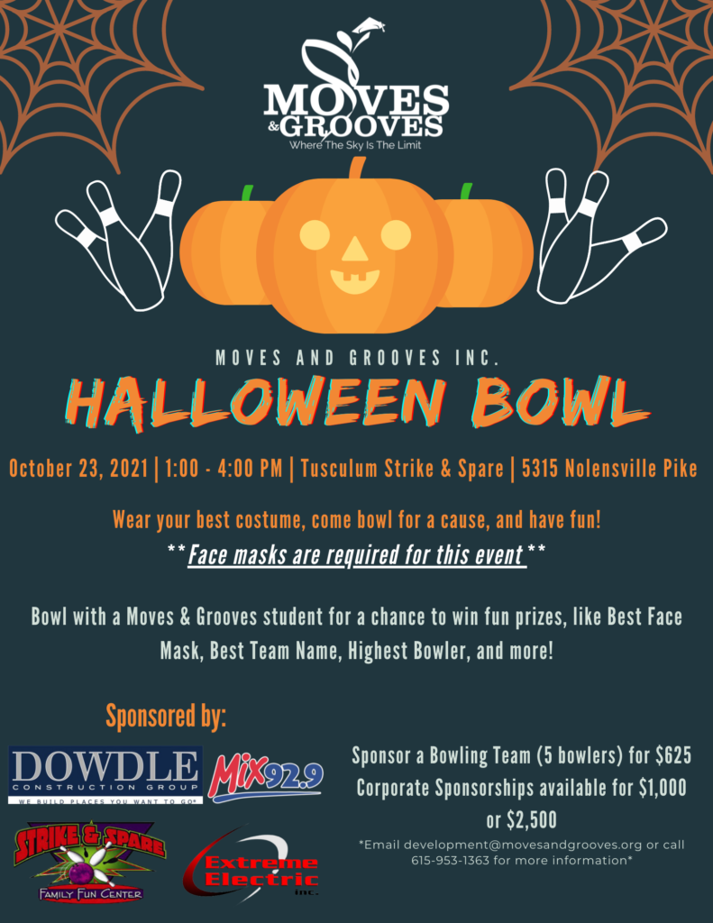 Halloween Bowl Flyer 2021 Moves And Grooves